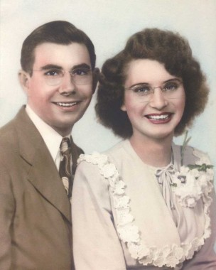 Mr. and Mrs. O.C. LaBorde as newlyweds.