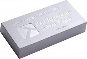 Pan American Silver Bullion 100-Oz Bar