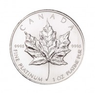 Canadian Maple Leaf Platinum Bullion Coin