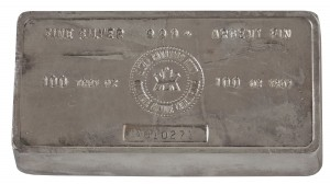 Royal Canadian Mint 100 Ounce Silver Bullion Bar_Horizontal_Dillon Gage