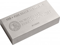 Northwest Territorial 100 Ounce Silver Bullion Bars